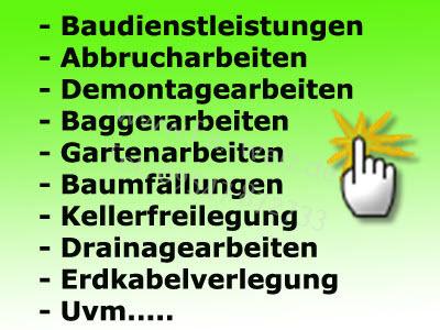 Minibaggerarbeiten in Bamberg,Coburg,Lichtenfels unde den Hassbergen.